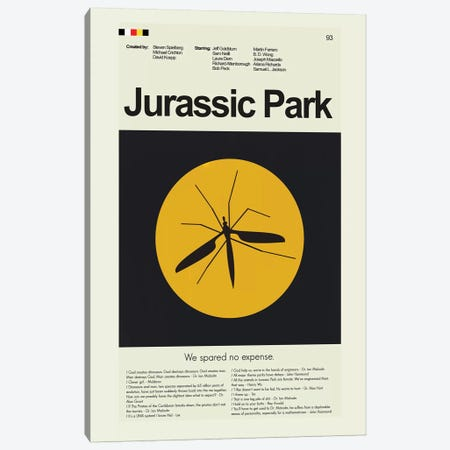 Jurassic Park Canvas Print #PAG51} by Prints and Giggles by Erin Hagerman Canvas Art