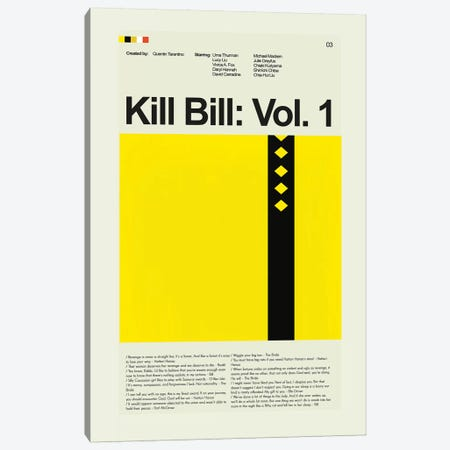 Kill Bill: Volume 1 Canvas Print #PAG52} by Prints and Giggles by Erin Hagerman Canvas Art