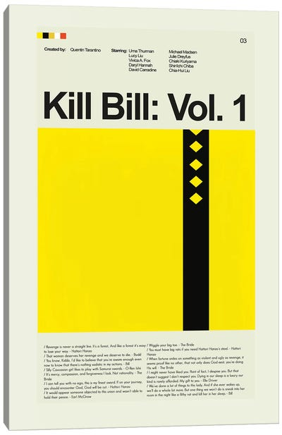 Kill Bill: Volume 1 Canvas Art Print