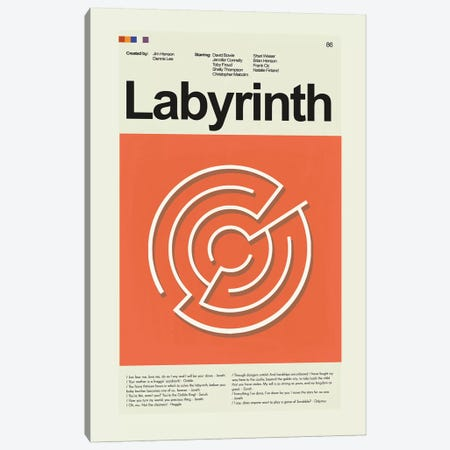 Labyrinth Canvas Print #PAG53} by Prints and Giggles by Erin Hagerman Canvas Art