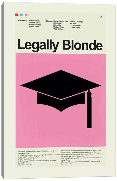 Legally Blonde Canvas Art Print