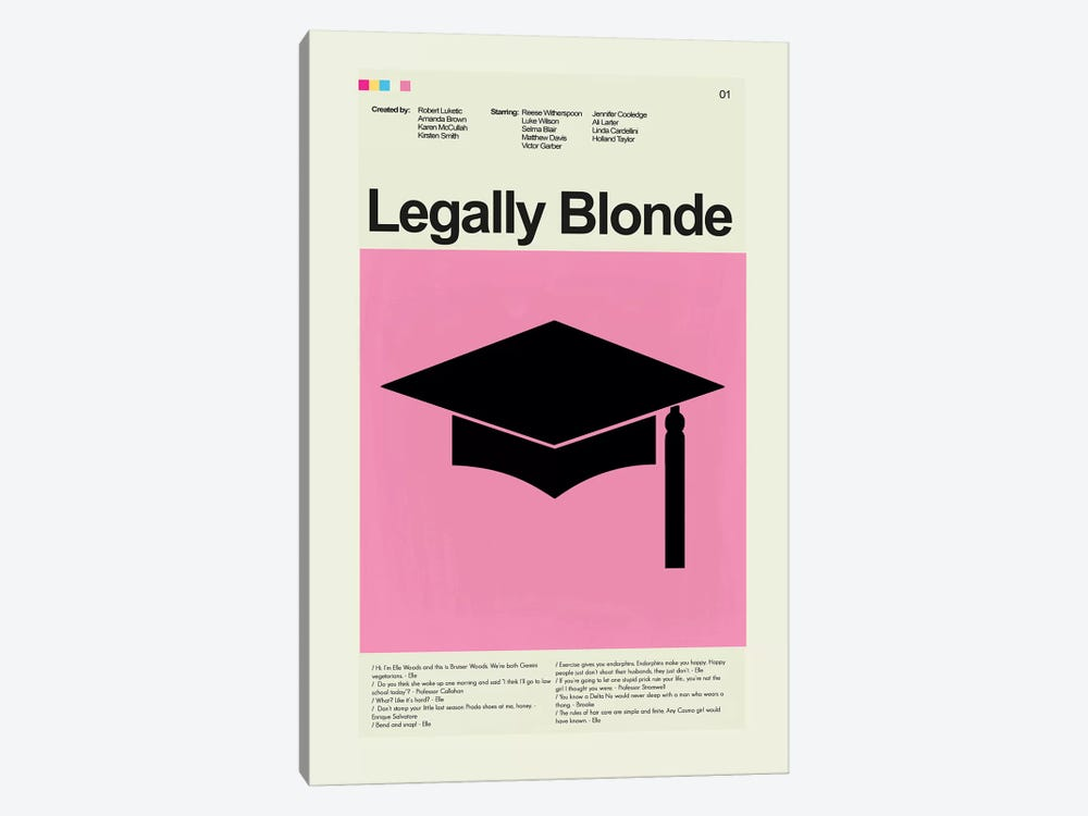 Legally Blonde by Prints and Giggles by Erin Hagerman 1-piece Canvas Artwork