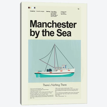 Manchester By The Sea Canvas Print #PAG55} by Prints and Giggles by Erin Hagerman Canvas Print