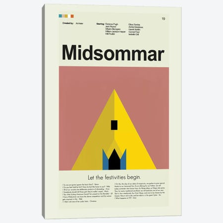 Midsommar Canvas Print #PAG57} by Prints and Giggles by Erin Hagerman Canvas Print