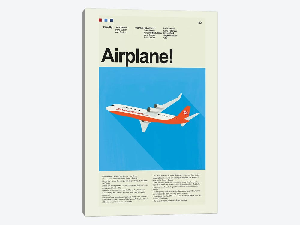 Airplane by Prints and Giggles by Erin Hagerman 1-piece Canvas Art