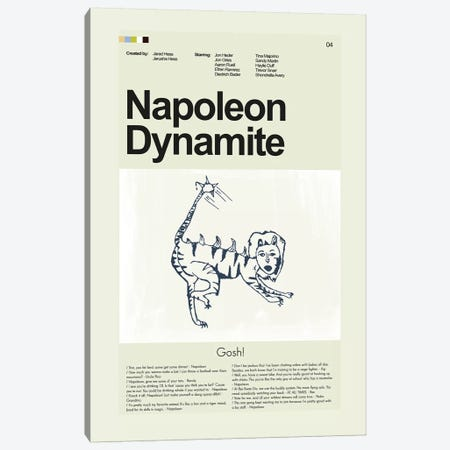 Napoleon Dynamite Canvas Print #PAG63} by Prints and Giggles by Erin Hagerman Art Print