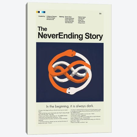 Never Ending Story Canvas Print #PAG64} by Prints and Giggles by Erin Hagerman Canvas Art