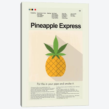 Pineapple Express 3-Piece Canvas #PAG67} by Prints and Giggles by Erin Hagerman Canvas Wall Art