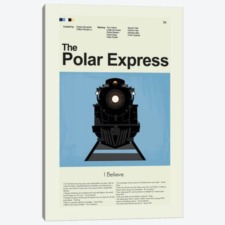 Polar Express Canvas Print #PAG70} by Prints and Giggles by Erin Hagerman Canvas Artwork