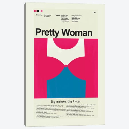 Pretty Woman Canvas Print #PAG71} by Prints and Giggles by Erin Hagerman Canvas Artwork