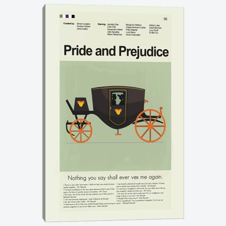 Pride And Prejudice BBC '95 Canvas Print #PAG72} by Prints and Giggles by Erin Hagerman Canvas Art