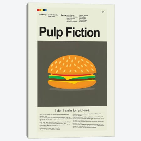 Pulp Fiction Canvas Print #PAG73} by Prints and Giggles by Erin Hagerman Canvas Artwork