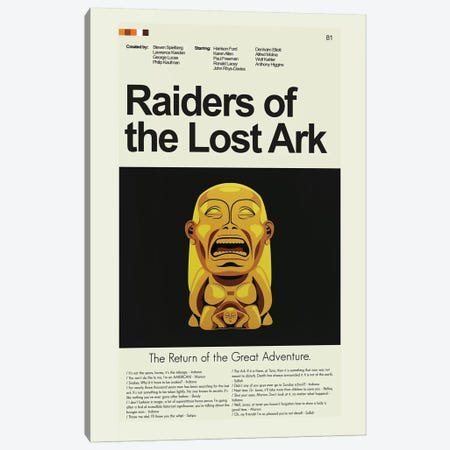 Raiders Of The Lost Ark Canvas Print #PAG74} by Prints and Giggles by Erin Hagerman Canvas Art Print