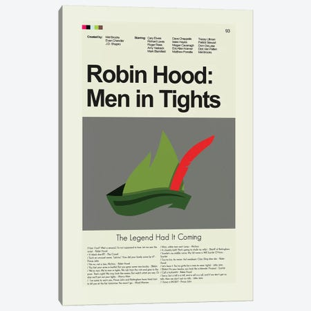 Robin Hood Men In Tights Canvas Print #PAG76} by Prints and Giggles by Erin Hagerman Canvas Print