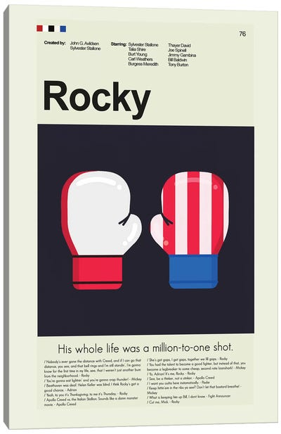 Rocky Canvas Art Print