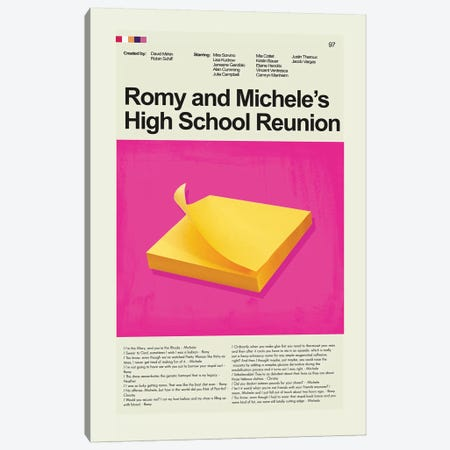Romy and Michele's High School Reunion 3-Piece Canvas #PAG78} by Prints and Giggles by Erin Hagerman Canvas Wall Art