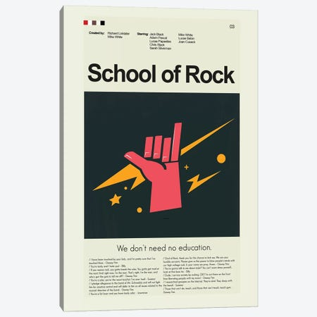 School Of Rock Canvas Print #PAG79} by Prints and Giggles by Erin Hagerman Canvas Art