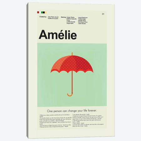 Amelie Canvas Print #PAG7} by Prints and Giggles by Erin Hagerman Art Print