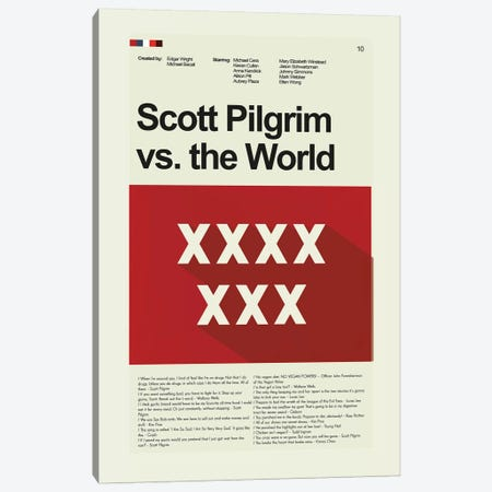 Scott Pilgrim Vs The World Canvas Print #PAG80} by Prints and Giggles by Erin Hagerman Canvas Art Print