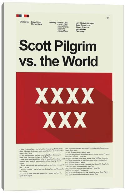 Scott Pilgrim Vs The World Canvas Art Print