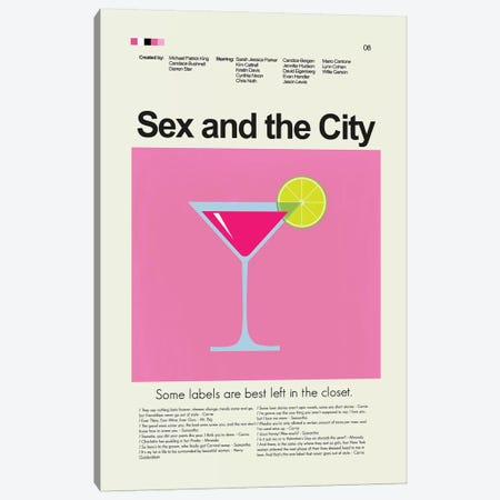 Sex And The City Canvas Print #PAG82} by Prints and Giggles by Erin Hagerman Art Print