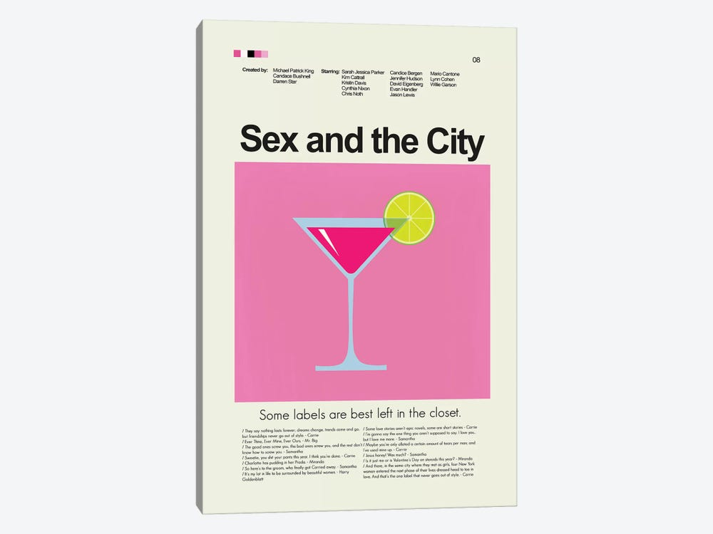 Sex And The City by Prints and Giggles by Erin Hagerman 1-piece Art Print