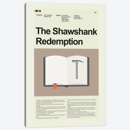 Shawshank Redemption Canvas Print #PAG83} by Prints and Giggles by Erin Hagerman Art Print
