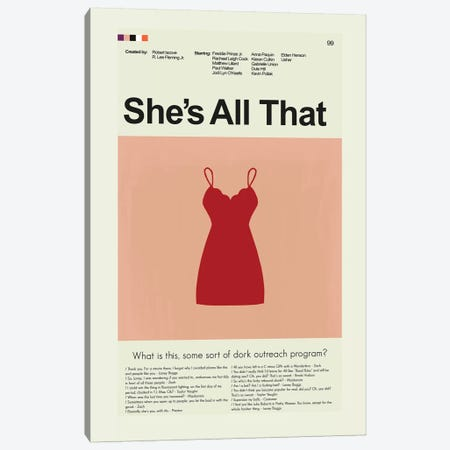 She's All That Canvas Print #PAG84} by Prints and Giggles by Erin Hagerman Canvas Wall Art