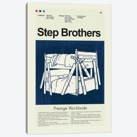 Step Brothers Canvas Print #PAG89} by Prints and Giggles by Erin Hagerman Canvas Art Print