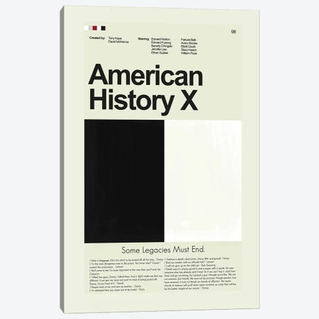 American History X Canvas Print #PAG8} by Prints and Giggles by Erin Hagerman Canvas Wall Art