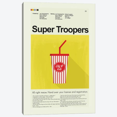 Super Troopers Canvas Print #PAG90} by Prints and Giggles by Erin Hagerman Canvas Wall Art