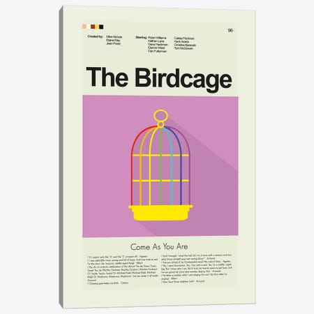 The Birdcage Canvas Print #PAG92} by Prints and Giggles by Erin Hagerman Canvas Art