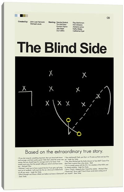 The Blind Side Canvas Art Print