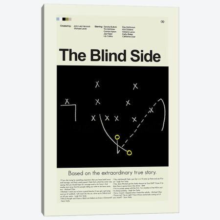 The Blind Side Canvas Print #PAG93} by Prints and Giggles by Erin Hagerman Canvas Wall Art