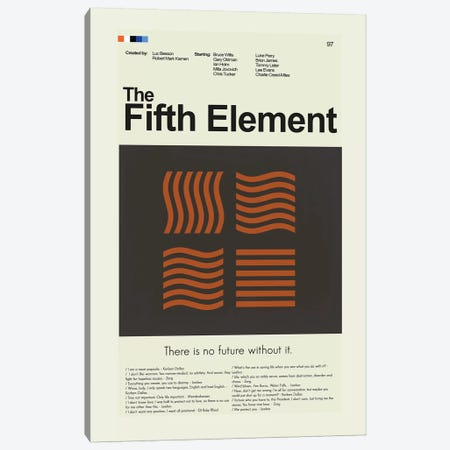 The Fifth Element Canvas Print #PAG94} by Prints and Giggles by Erin Hagerman Canvas Print