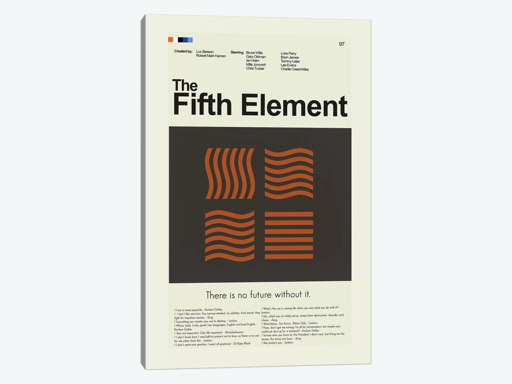 The Fifth Element by Prints and Giggles by Erin Hagerman 1-piece Canvas Wall Art