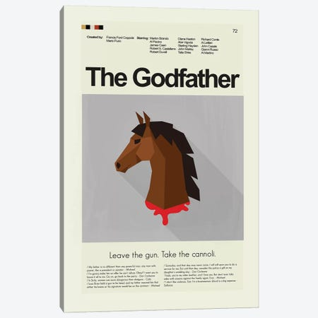 The Godfather Canvas Print #PAG95} by Prints and Giggles by Erin Hagerman Art Print