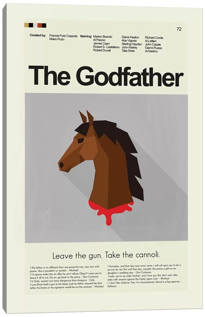 The Godfather Canvas Art Print