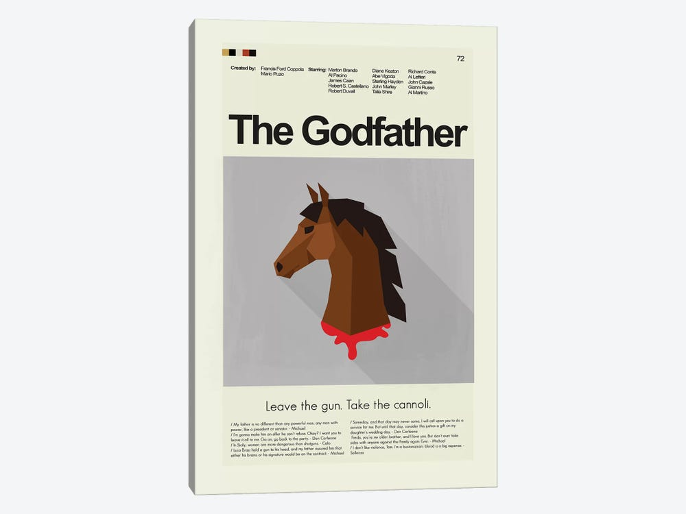 The Godfather by Prints and Giggles by Erin Hagerman 1-piece Canvas Print