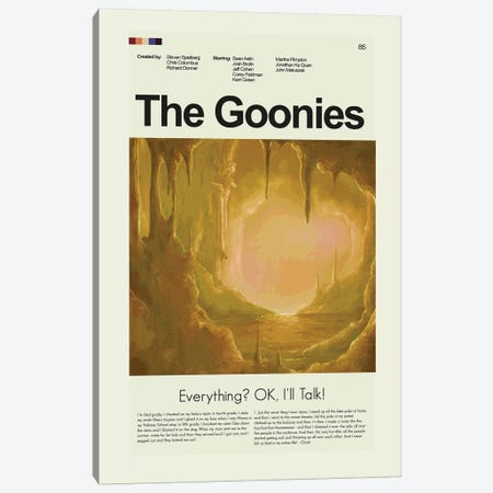 The Goonies Canvas Print #PAG96} by Prints and Giggles by Erin Hagerman Art Print