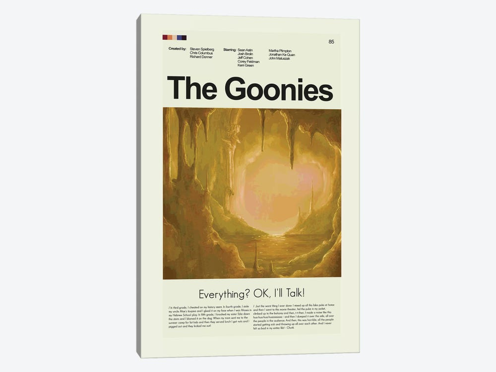 The Goonies by Prints and Giggles by Erin Hagerman 1-piece Canvas Wall Art