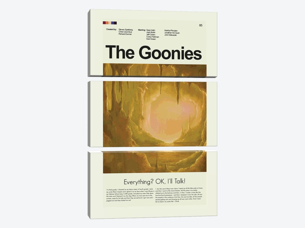 The Goonies by Prints and Giggles by Erin Hagerman 3-piece Canvas Art
