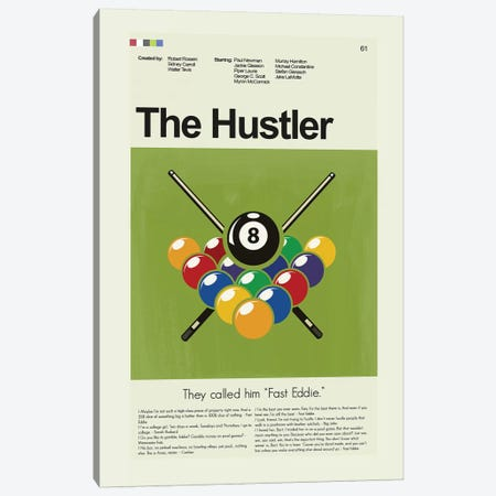 The Hustler Canvas Print #PAG97} by Prints and Giggles by Erin Hagerman Canvas Print