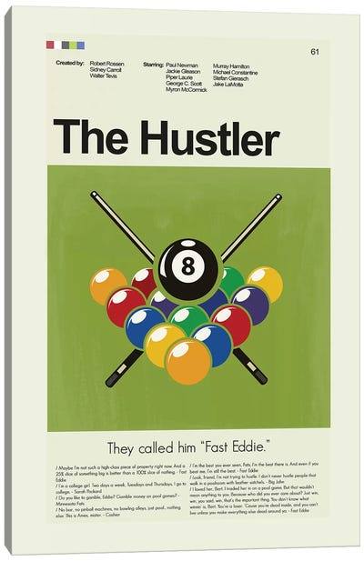 The Hustler Canvas Art Print
