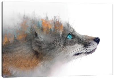 Flaming Fox Canvas Art Print