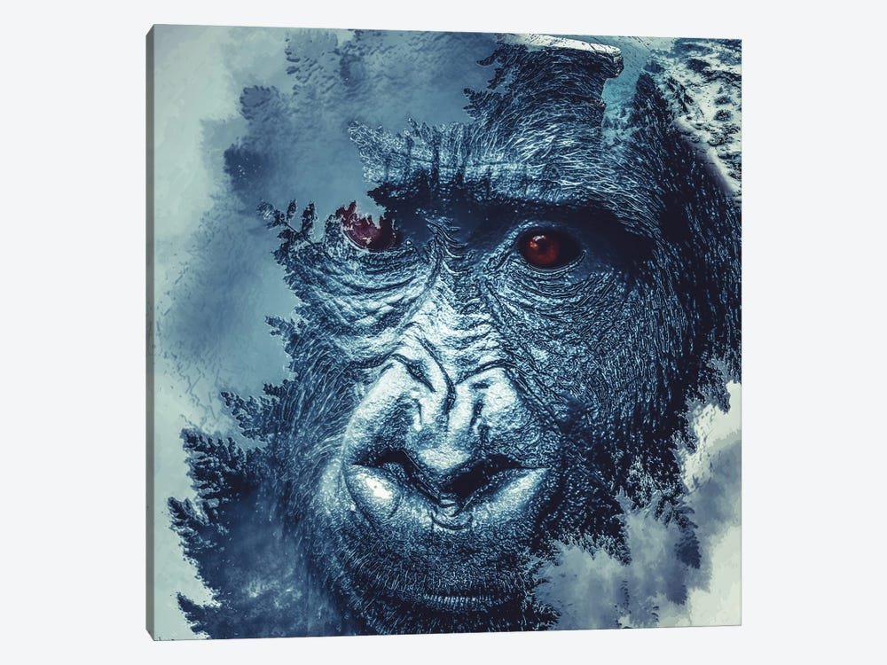 Gorilla by Paul Haag 1-piece Canvas Print