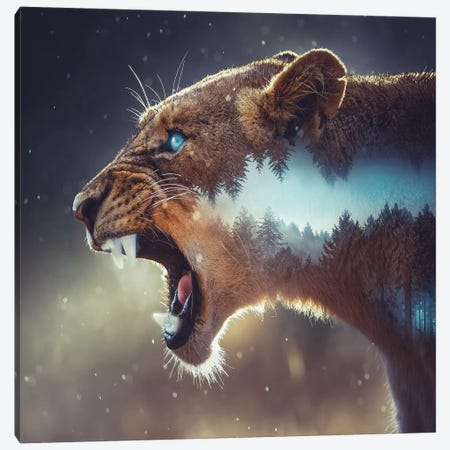 Predator Canvas Print #PAH22} by Paul Haag Canvas Wall Art