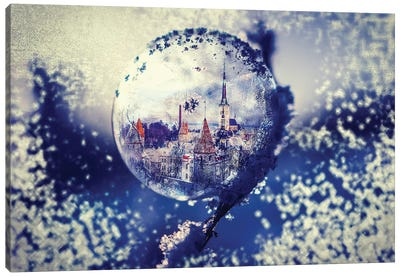 City Globe Canvas Art Print