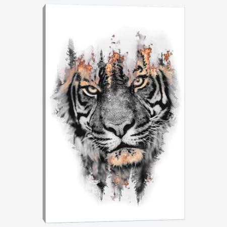 Burning Tiger Canvas Print #PAH53} by Paul Haag Art Print