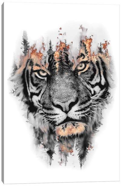Burning Tiger Canvas Art Print